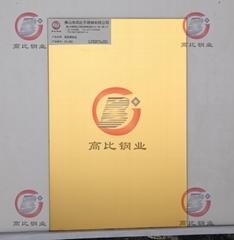 CS-2881 镜面镀钛金 高比精磨镜面不锈钢+防指纹