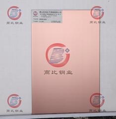 CS-3009 镜面镀古铜不锈钢板 优质防指纹镜面不锈钢