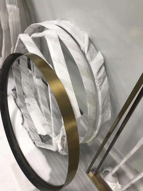 家居金属装饰材料  304玫瑰金不锈钢镜框架 2