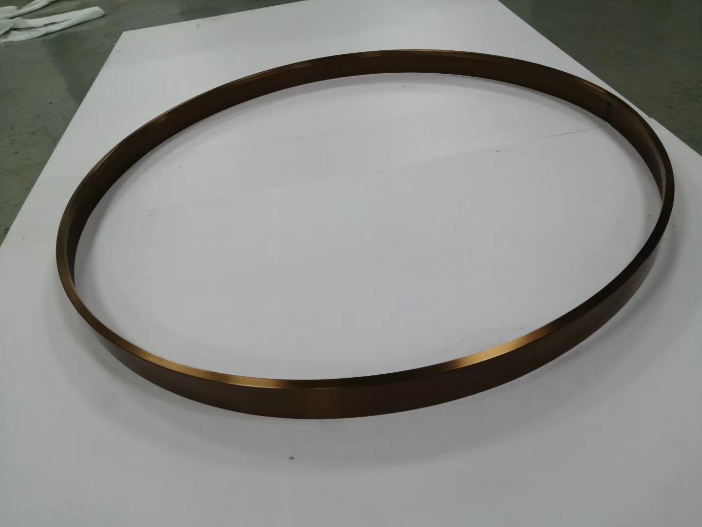 304亮光鈦金拉絲不鏽鋼圓型鏡框 1