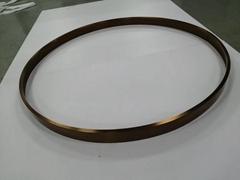 304亮光鈦金拉絲不鏽鋼圓型鏡框