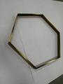 304亮光钛金拉丝不锈钢圆型镜框 2
