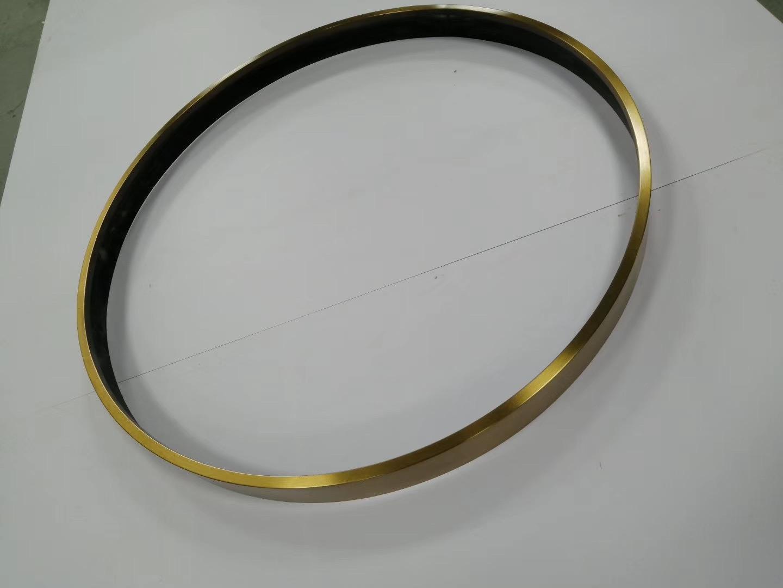 304亮光钛金拉丝不锈钢圆型镜框 3