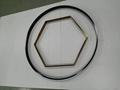 304亮光鈦金拉絲不鏽鋼圓型鏡框 4