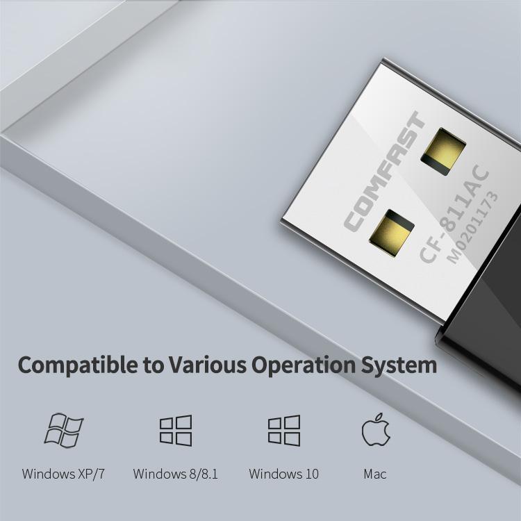 Comfast CF-811AC 650mbps RTL8811CU 802.11 AC USB Wifi Adapter 3
