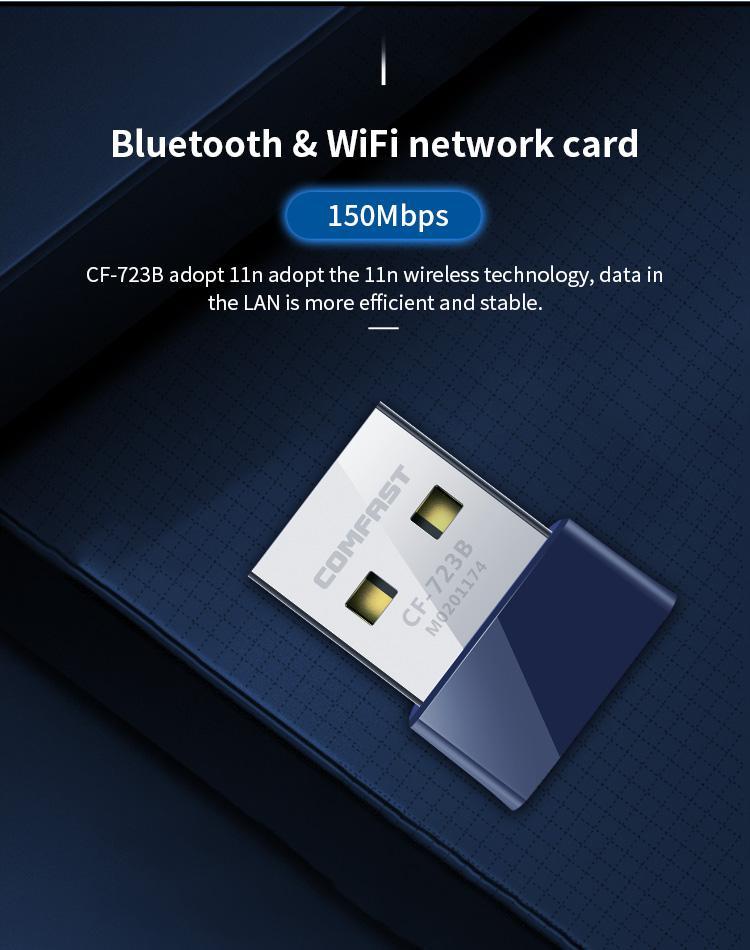 CF-WU723B 150Mbps 2 in 1 Wifi Bluetooth USB Adapter 3