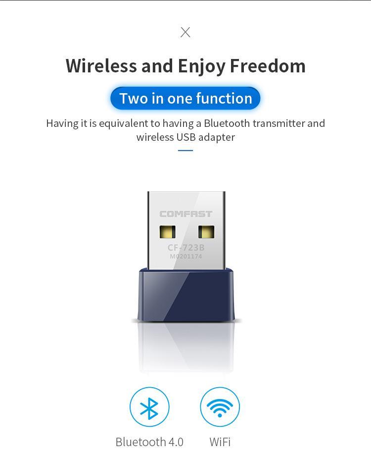 CF-WU723B 150Mbps 2 in 1 Wifi Bluetooth USB Adapter 2
