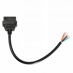 OBD2 16Pin 母头开口连接线 open 16pin female cable