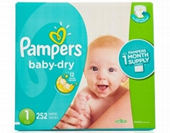 Pampers Baby Dry Diapers XL Case Size 1 (252 Count)