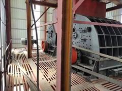 二手日產1萬噸砂石料生產線錘式破碎機制砂機出售