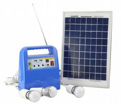 10W 12V solar power generator solar energy system FM MP3 all in one
