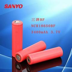 原裝進口三洋BF NCR18650BF 3400mAh 3.7V鋰電池強光手電筒充電寶