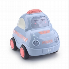 2019 Inertil toy car good quality hand push Friction Toy Police  Vehic for kids