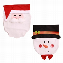 Hot Selling 2019 Santa Claus Snowman Chair Covers 48*66cm Christmas Dinner Table
