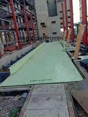 侧翻式散料卸车翻板平台