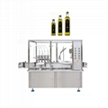 Automatic olive oil glass bottle filling machine