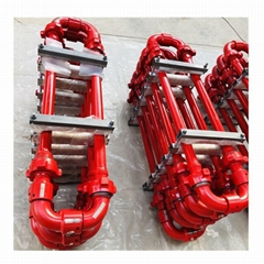 油田固井高壓環形管匯-50型長半徑高壓環形管匯