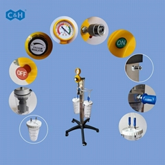Surgery Medical Vacuum Regulator Trolley with Suction Liquid Collecting Bottles