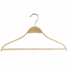 wooden clothes hangers with bar