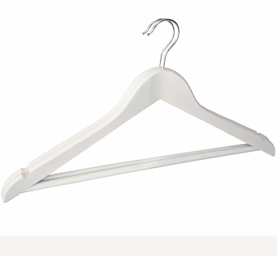 wooden clothes hangers with bar 2
