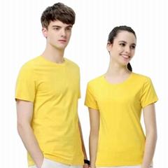 2019莱卡棉圆领短袖T恤广告衫班服工作服 休闲衫DIY印字定制LOGO