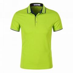 2020夏季新款男士商务工作服团体服活动服t恤翻领衫刺绣LOGO