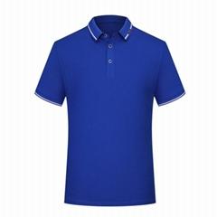 蚕丝光棉文化衫定制短袖工作服定做广告衫企业LOGO刺绣工衣