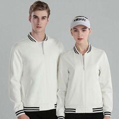 韩版少男女加厚加绒棒球工作服班服定制印LOGO广告衫卫衣