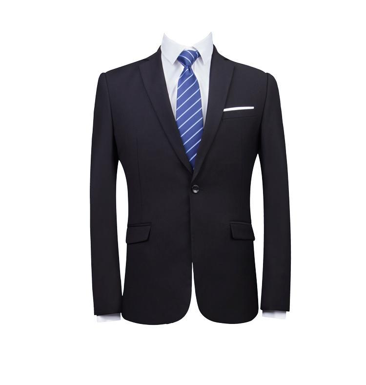 商务男装黑色职业正装西服套装男士西装工作服 1
