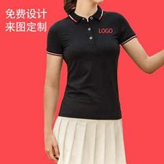 夏季蠶絲棉衫商務短袖廣告衫翻領工作服定製印LOGO