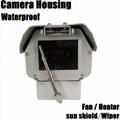 Large dimension aluminium alloy outdoor cctv camera housing with wiper