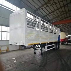 3 axles 40 ton fence cargo truck