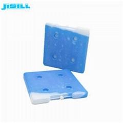 High quality square shape 26*26*2.5 cm HDPE hard plastic reusable ice brick gel