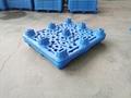 九脚吹塑托盘1210单面叉车塑料托盘1.2*1米塑料垫板