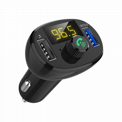 car Bluetooth MP3 Player with 2 usb port QC3.0 quick car charger  FM car kit