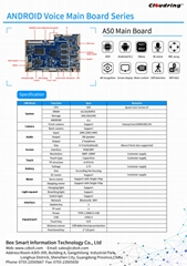 A50 Android AI Main Board for Robotic/ HiFi Speaker 4MIC ARRAY Alexa
