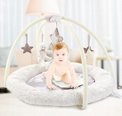 baby play mats with 5 pics plush toys