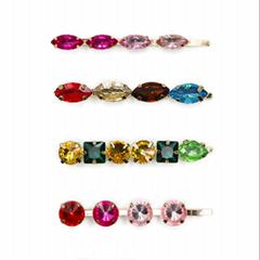 Color diamond hair clip