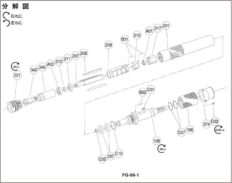 日本FUJI富士氣動筆式打磨機:FG-06S-1 4