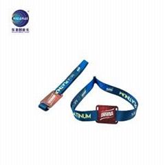 華海銷售可定製手腕帶的織帶卡