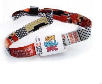 華海銷售可定製手腕帶的織帶卡 2