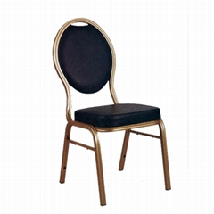Customized oval back black banquet chair