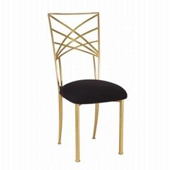 Popular wholesale metal iron gold chameleon chiavari chair for wedding party