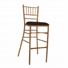 High quality stacking metal chivari bamboo bar stool chair for banquet wedding