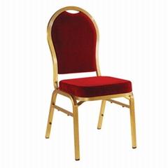Hot Sale stackable aluminium gold wedding banquet chair