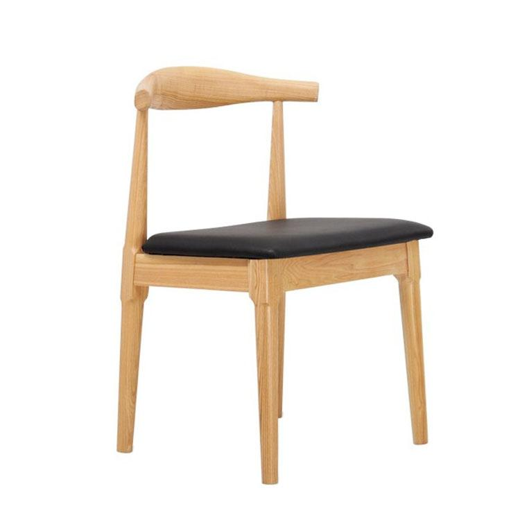 modern solid wood restaurant dining chair