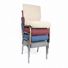 Colorful stacking upholstered church chair wholesale for theater