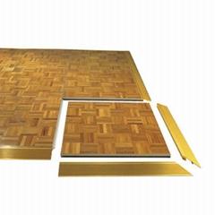 Interactive wood grain plywood portable dance floor for wedding dancing