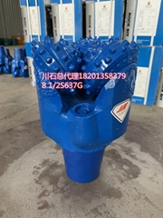 Rubber Sealed Bearing Three Cone Tricone Rock Roller Bits For Mining