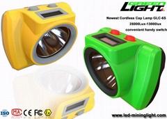 Ultrasonic IP68 Waterproof Processing LED Mining Light 25000lux Panasonic Batter